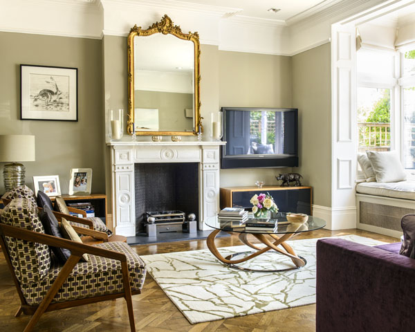 alex cotton interiors putney edwardian family home. Black Bedroom Furniture Sets. Home Design Ideas