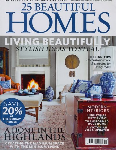 Beautiful Homes feature on Alex Cotton Interiors