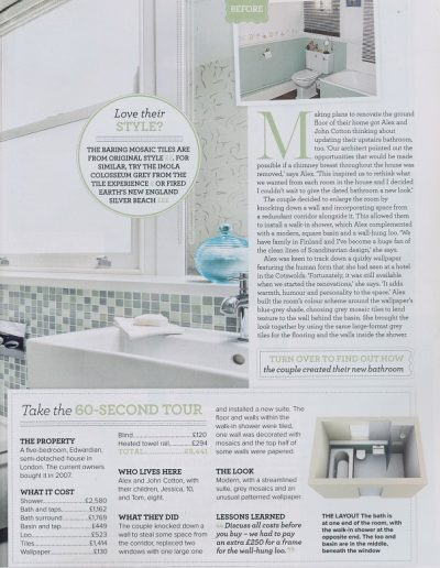 Ideal Home feature on Alex Cotton Interiors