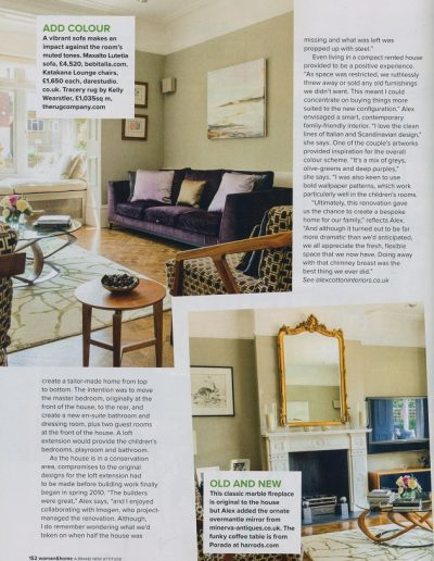 Woman and Home feature on Alex Cotton Interiors